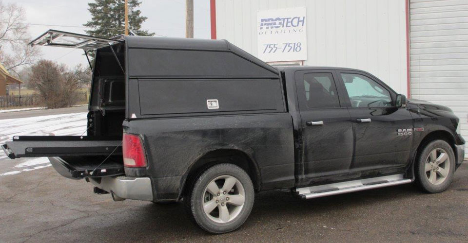 Truck Caps Tonneau Covers Camper Shells Amp Toppers Snugtop Deluxe Commercial Utility DCU Truck Toppers Kalispell MT